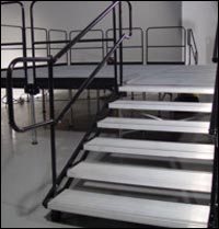OEM factory aluminum stairs with rails