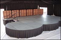 rounded stage decks